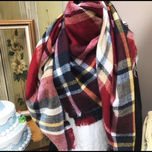 3d55b9d72f998 Women Blanket Oversized Tartan Scarf Wrap Shawl